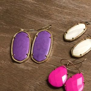 3 pairs of Kendra Scott earrings